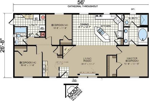 Floor Plans for Morton Building Homes Morton Building Homes Floor Plans Redman A526