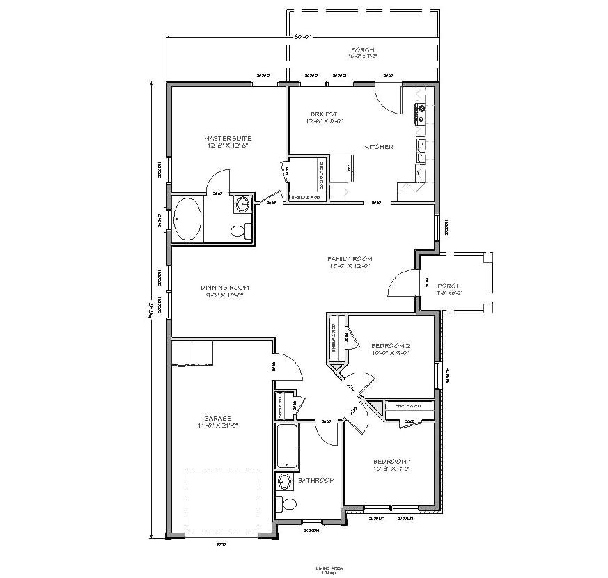 small home designs floor plans with 3 bedroom