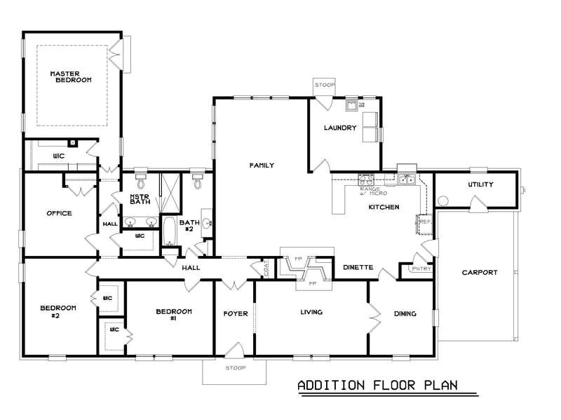 ranch home floor plans popular floor plans in 60s with addition floor