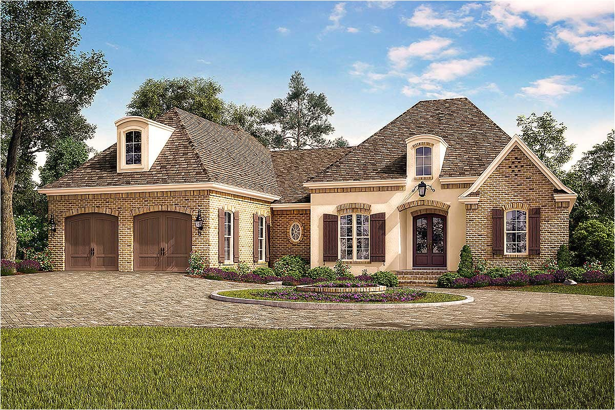 exclusive acadian french country house plan with vaulted rear porch 51767hz
