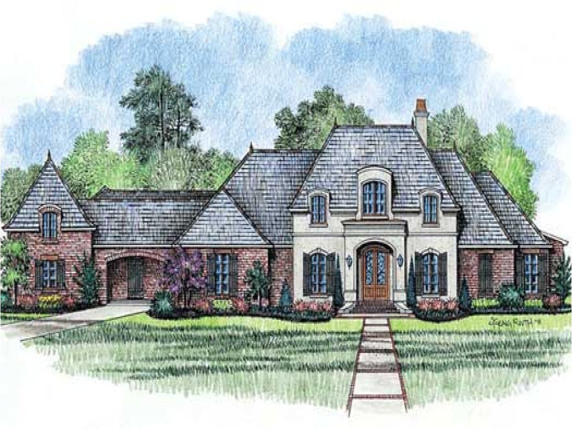 one story french country house plans
