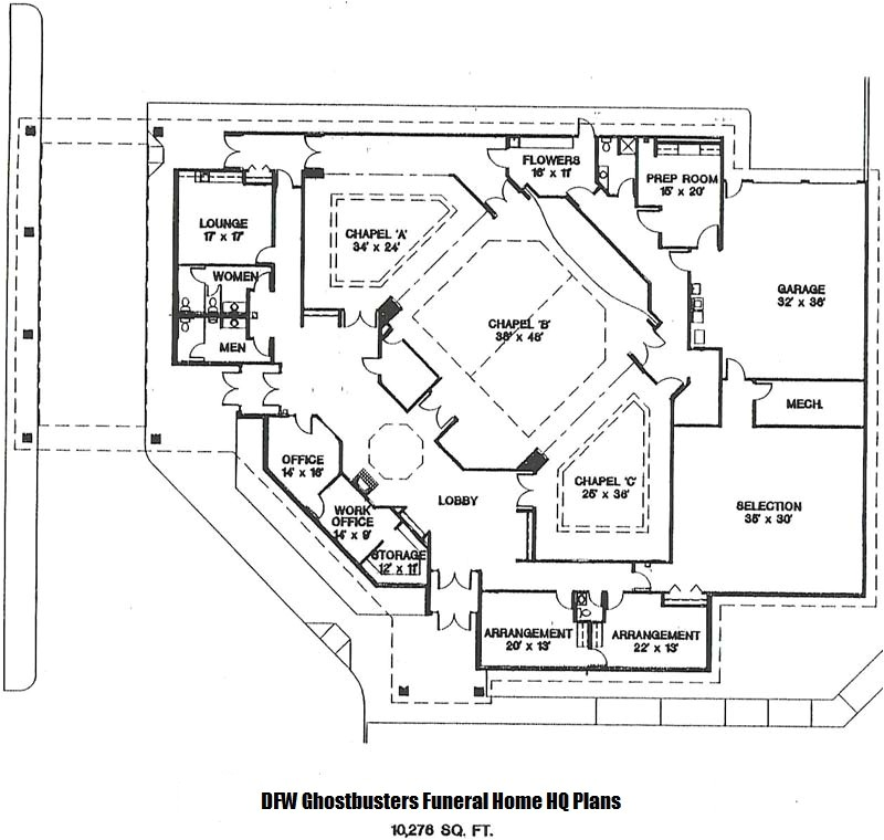 funeral home blueprints