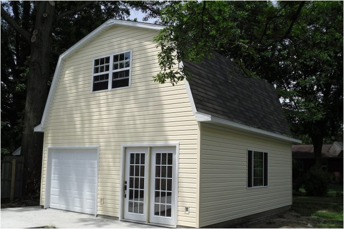 gambrel roof style for pretty exterior