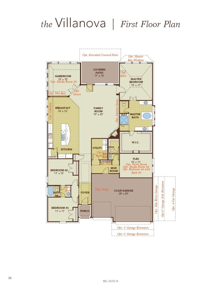 Gehan Homes Floor Plans Villanova Home Plan by Gehan Homes In Westwood