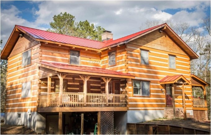 hearthstone log home nestled on 5 secluded acres
