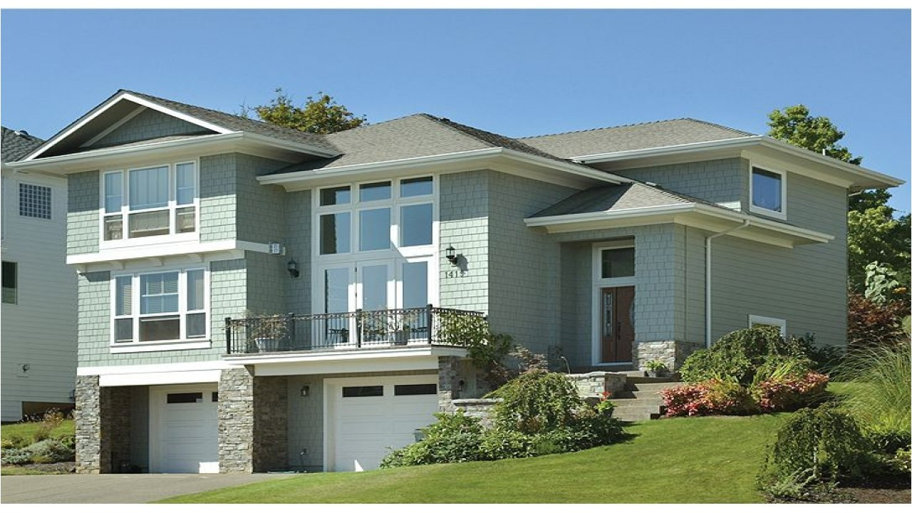 Hillside House Plans with Garage Underneath Hillside House Plans with Drive Under Garage Hillside