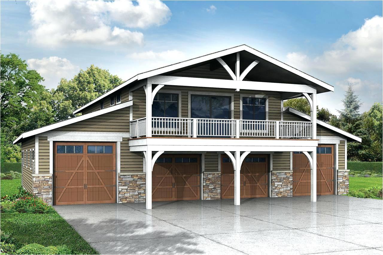 hillside house plans with garage underneath door