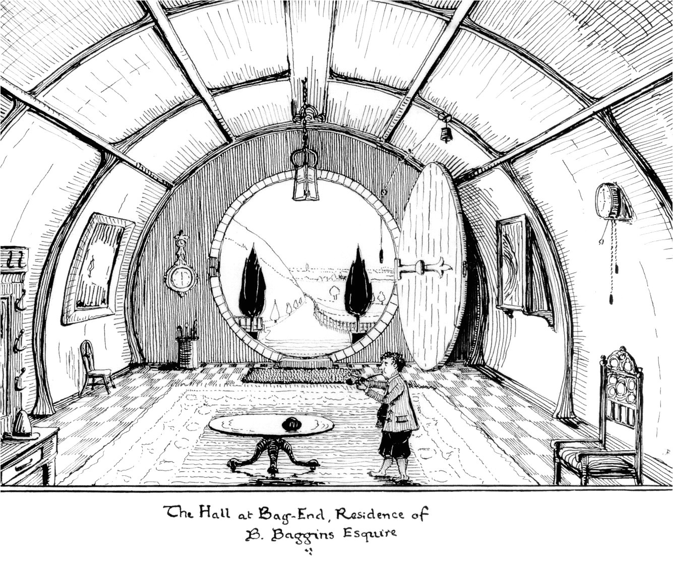 the hall at bag end j r r tolkien