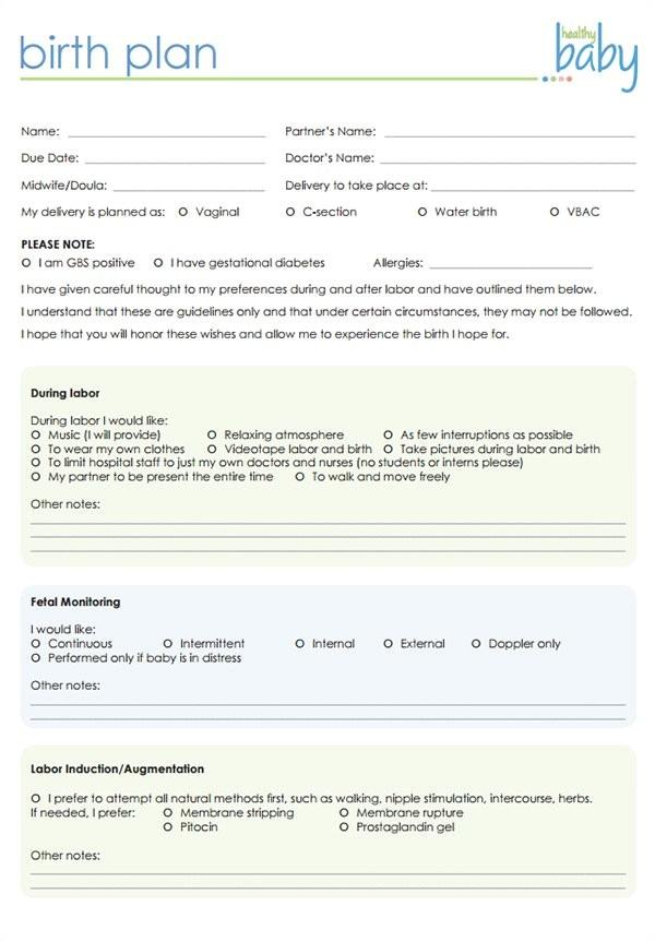 post natural birth plan checklist 15869