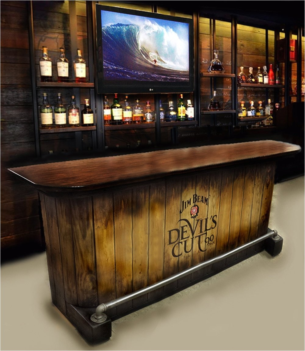 home bar custom hand built rustic