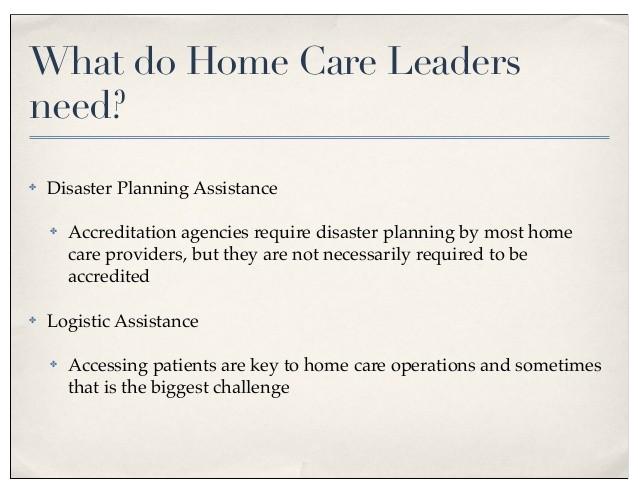 emergency preparedness in home health
