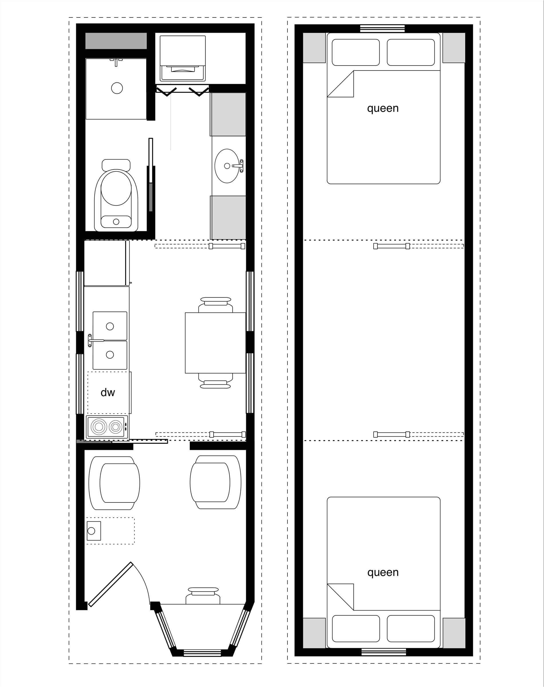 tiny house floor plans 500 sq ft