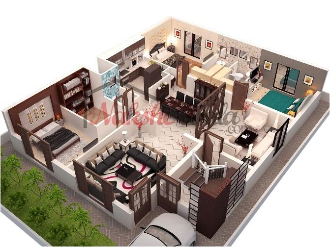 3d 2d floor plans