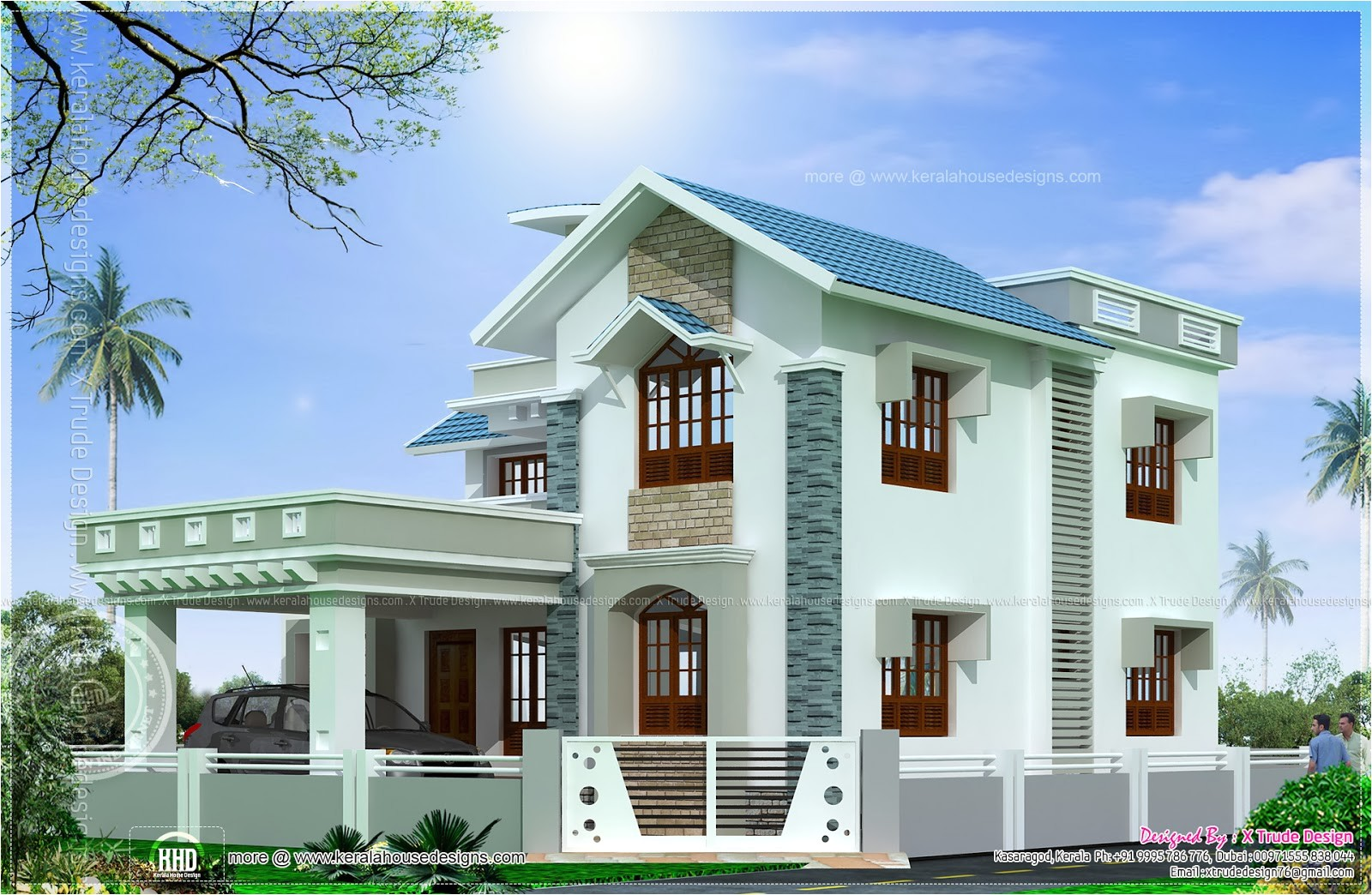 beautiful square feet house elevation
