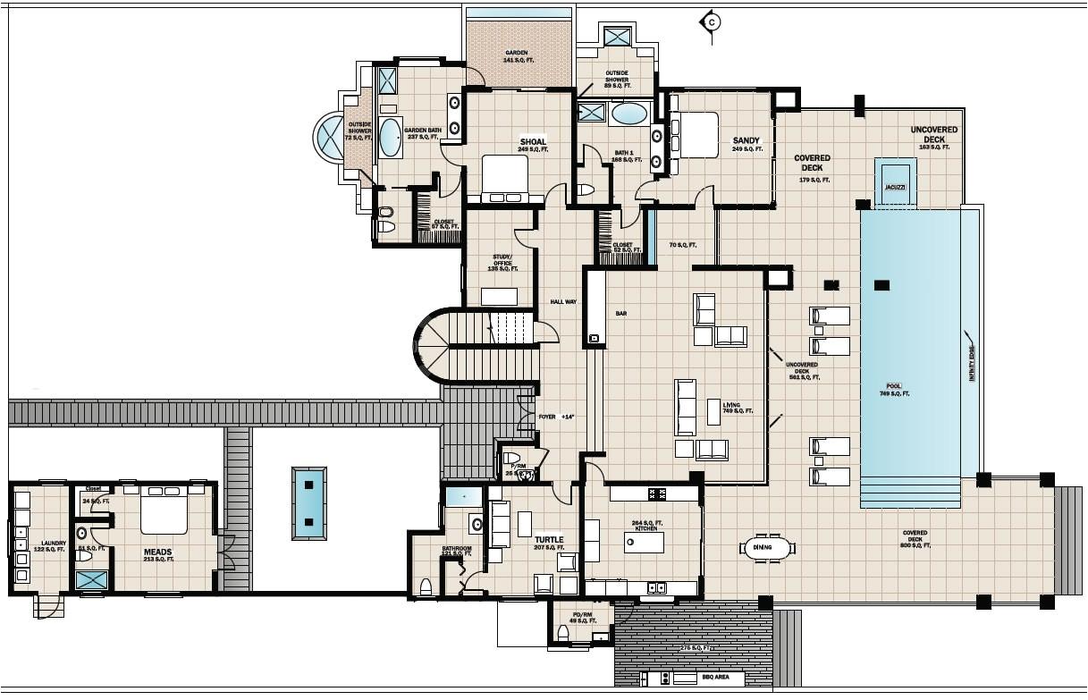 beach house floor plans