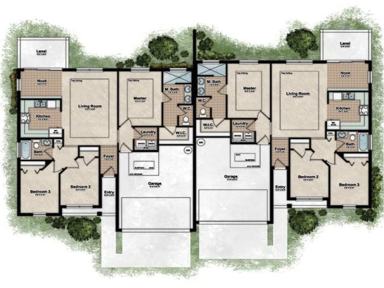 Home Duplex Plans Best Duplex House