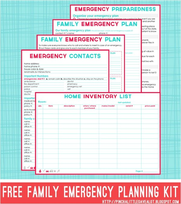 free family emergency planning kit printables