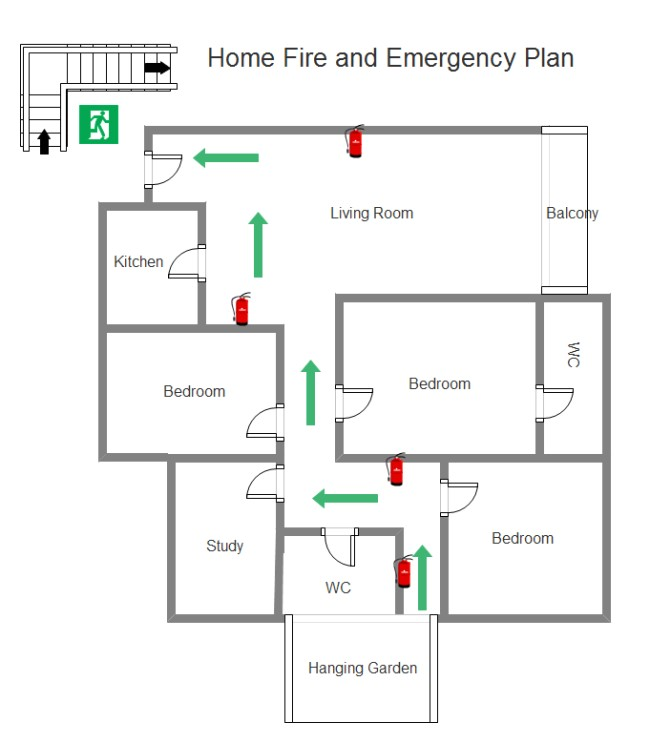 Home Emergency Plan Simple Fire Emergency Chart Maker Make Great Looking