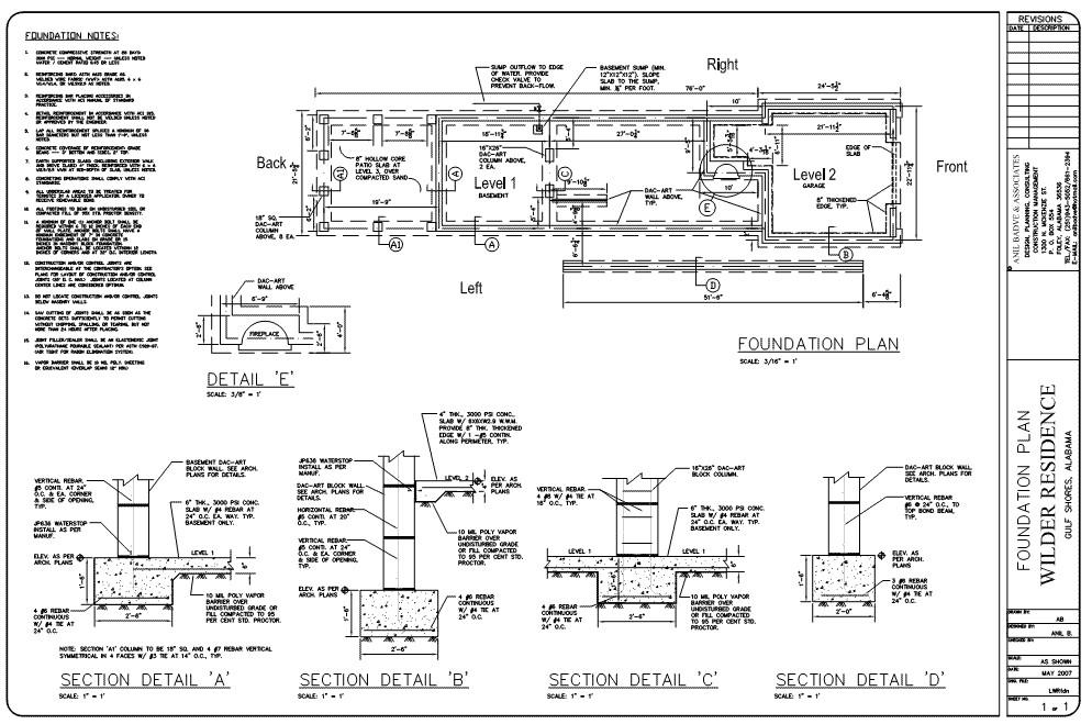 w engineered foundation plans