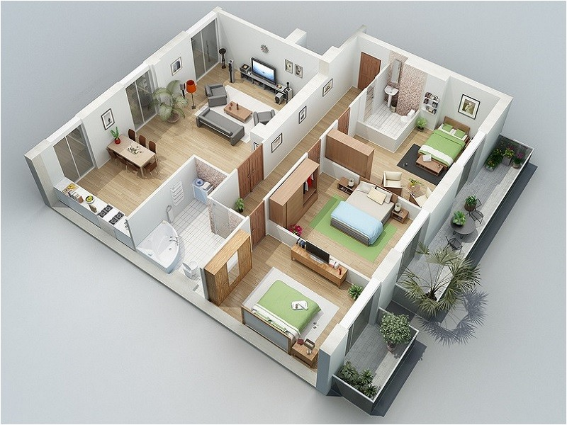 3 bedroom homify house plans