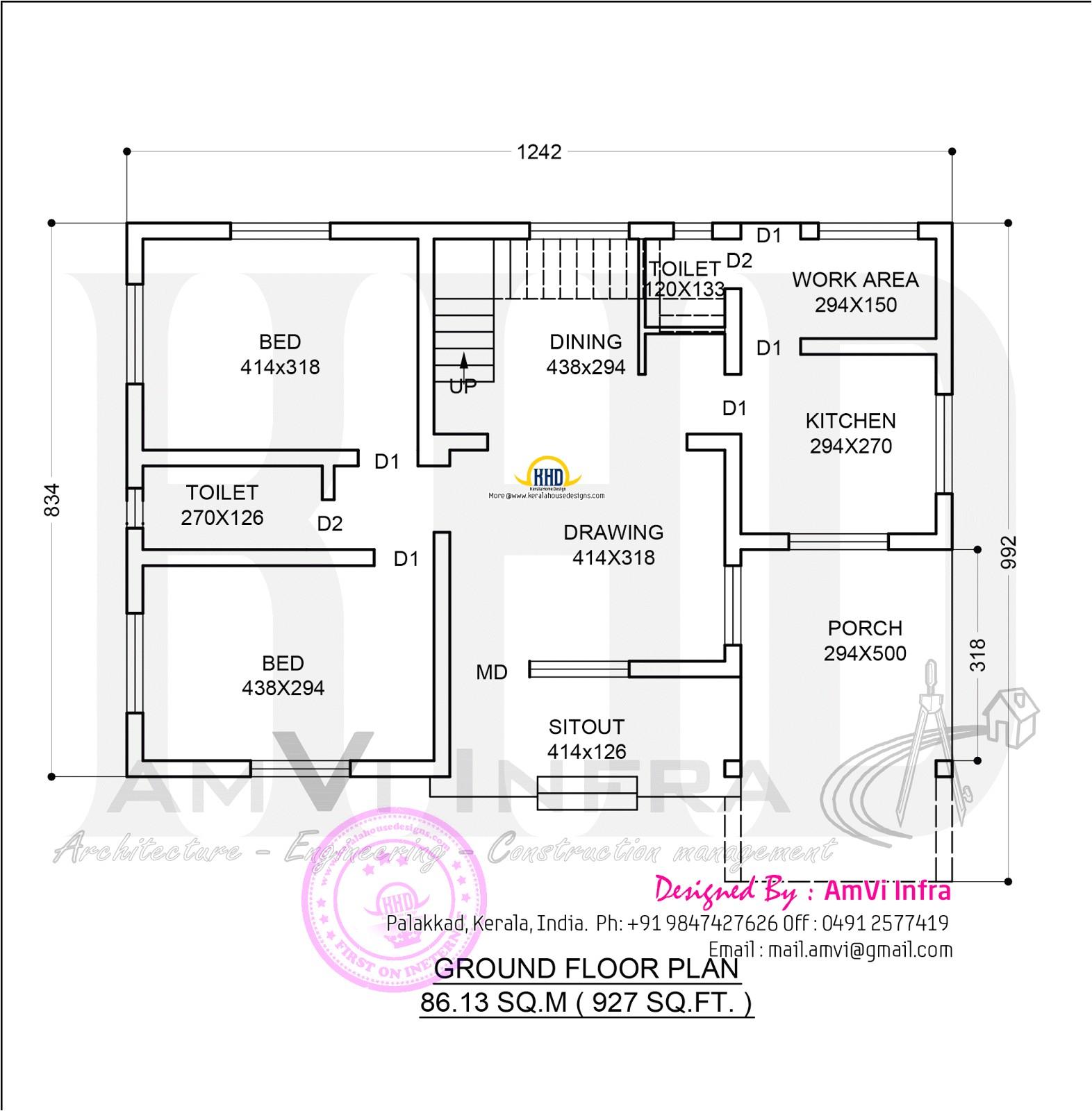 floor plan 1329 sq ft home