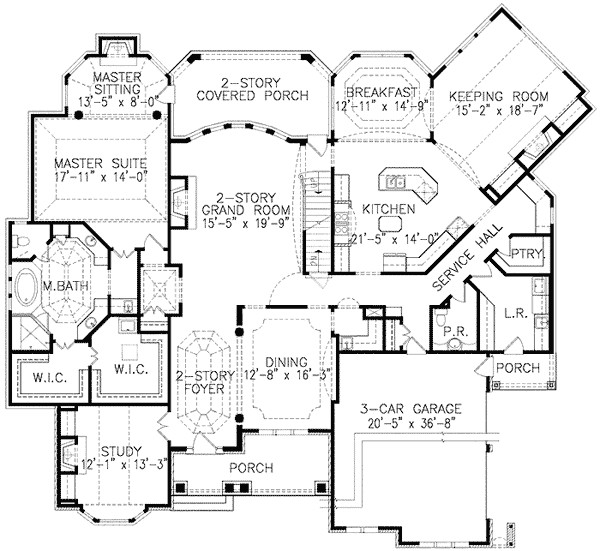 house plans keeping rooms