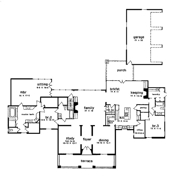 house plans with keeping room off kitchen