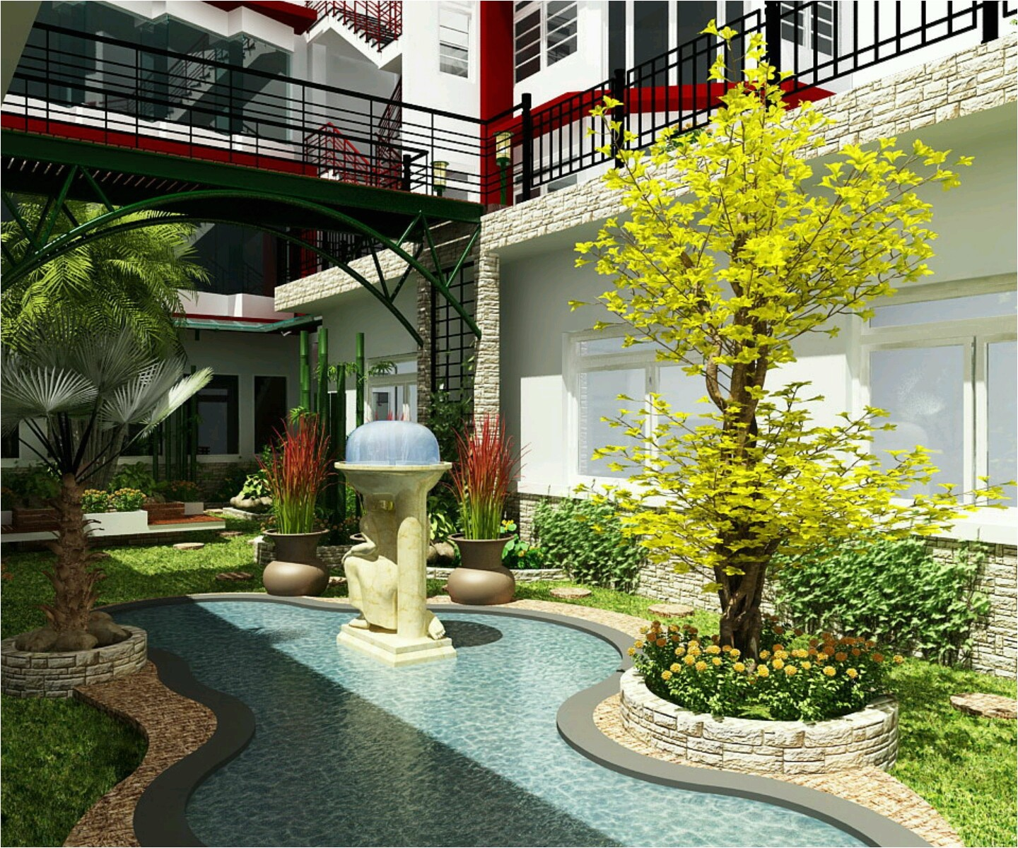 modern luxury homes beautiful garden