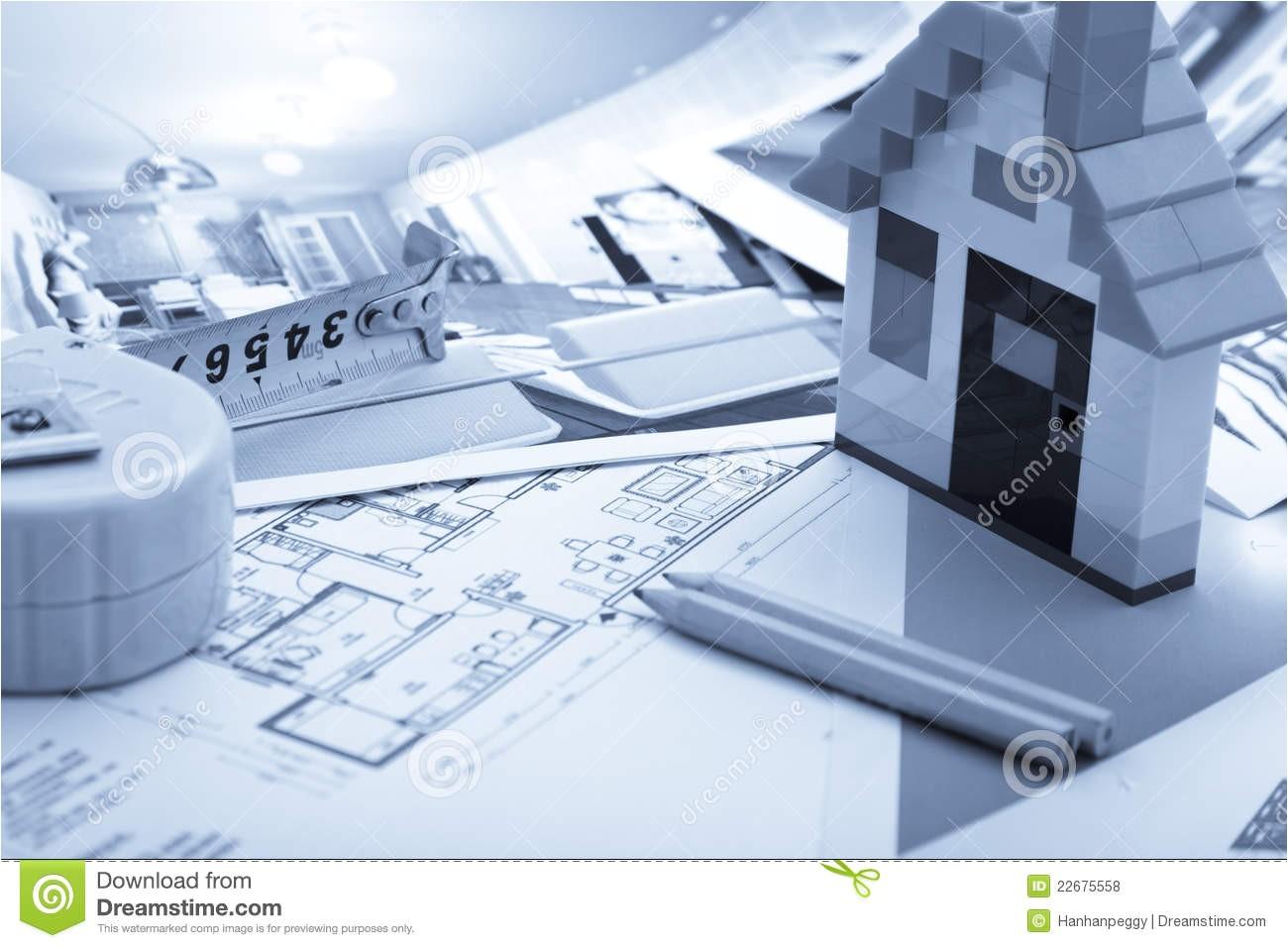 royalty free stock photos home improvement plan image22675558