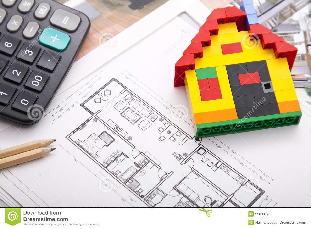 royalty free stock photos home improvement plan image22830778