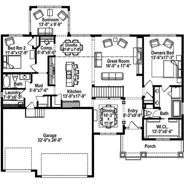 Home orchard Plan Green orchard Ranch Home Plan 072d 1108 House Plans and More
