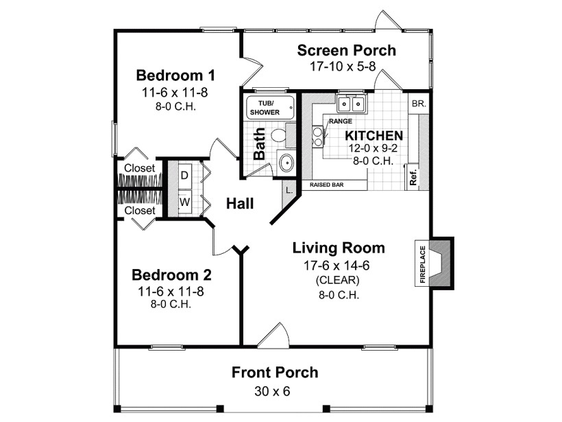 Home Plan Design 800 Sq Ft Amazing House Plans Under 800 Sq Ft 5 Eplans Ranch House