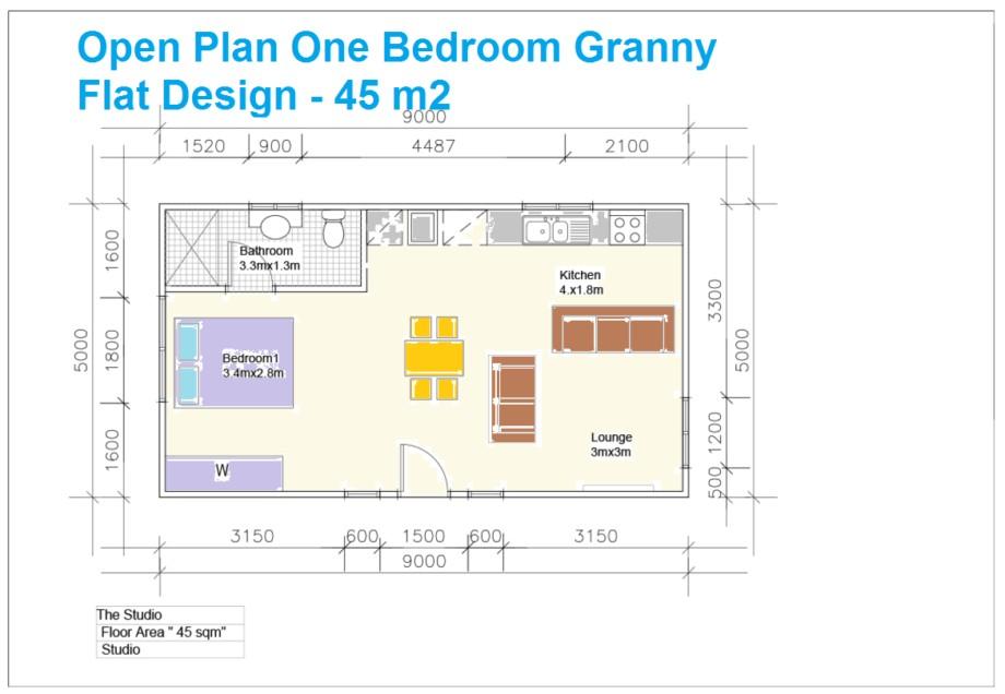bedroom granny flat designs finder also 1 floor plans open plan one