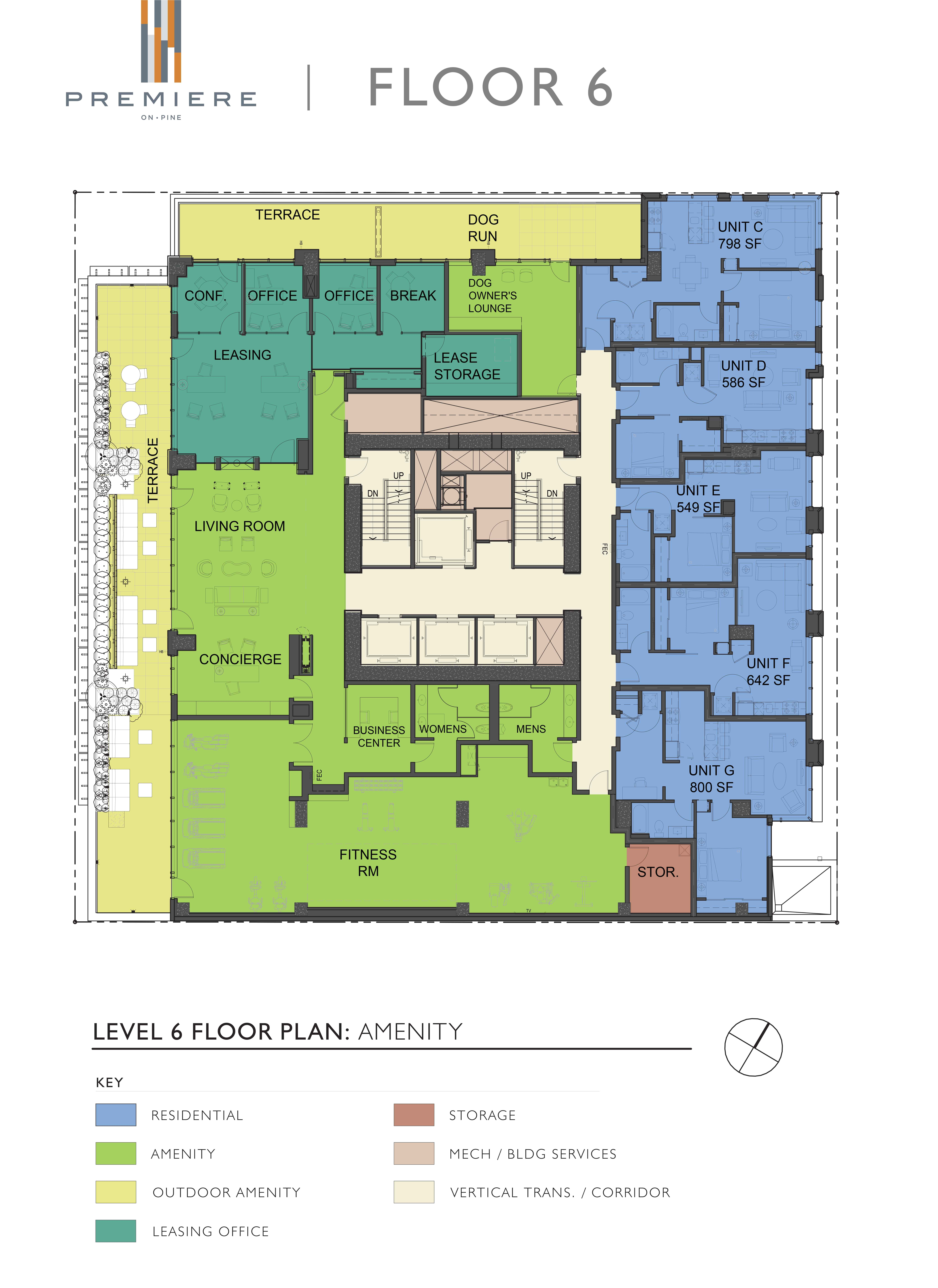 seattle high rise luxury apartment floor plans