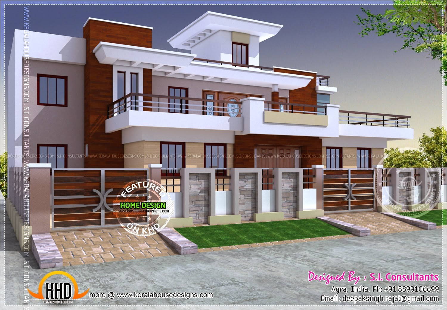 modern style india house plan