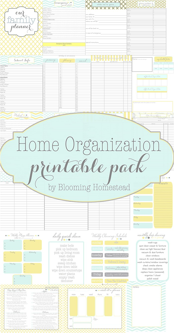 Home Planning Binder Home organization Printables Page 3 Of 4 Blooming