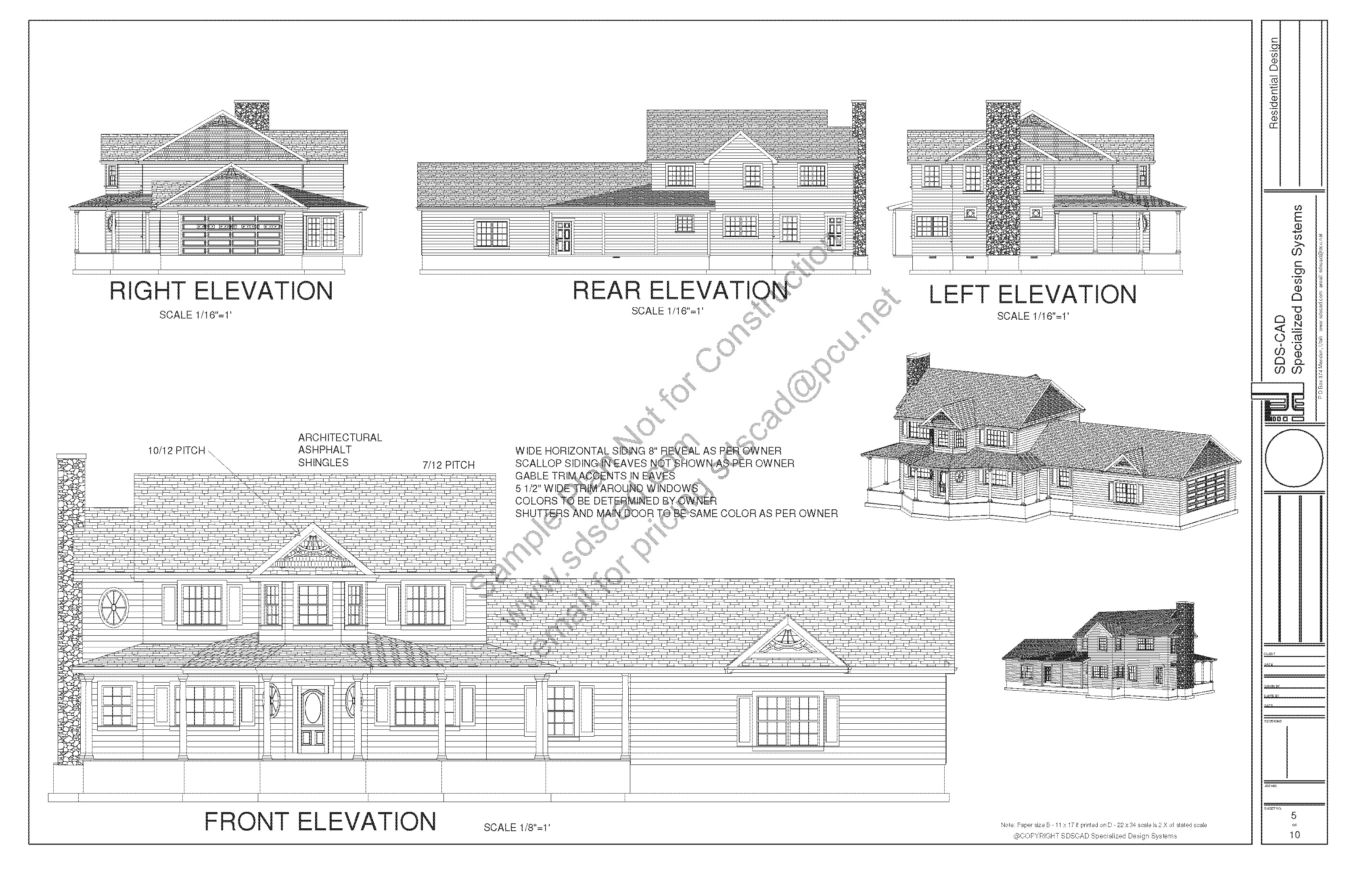 h212 country 2 story porch house plan blueprints construction drawings