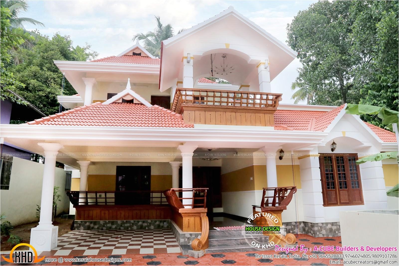 beautiful work finished house in kerala