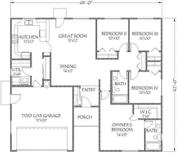 modern home plans under 1500 square feet
