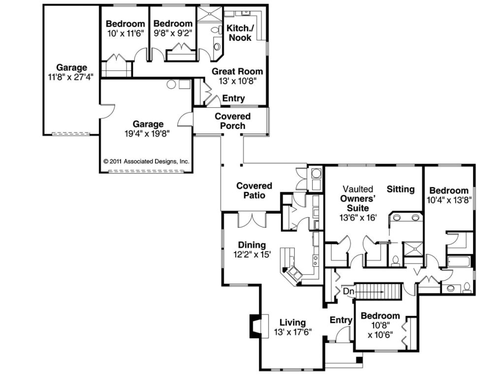 house plans with inlaw suites attached