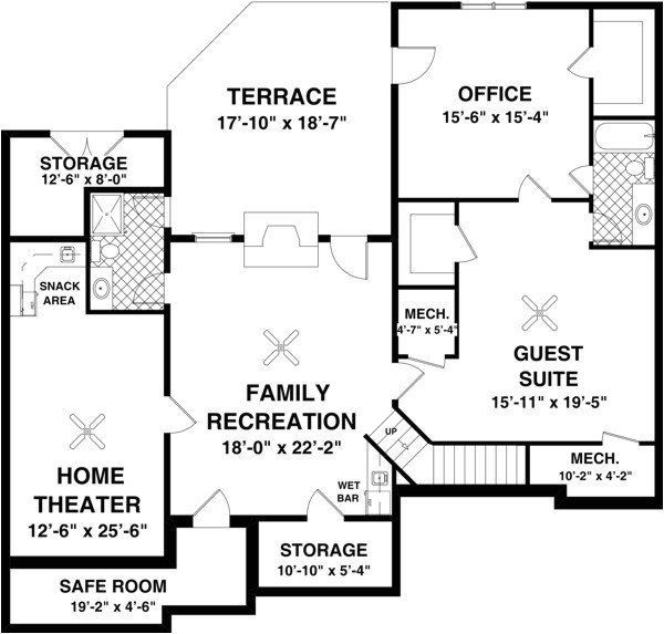high quality home plans with basements 5 ranch house floor plans with basement