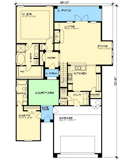 european house plan 36853jg