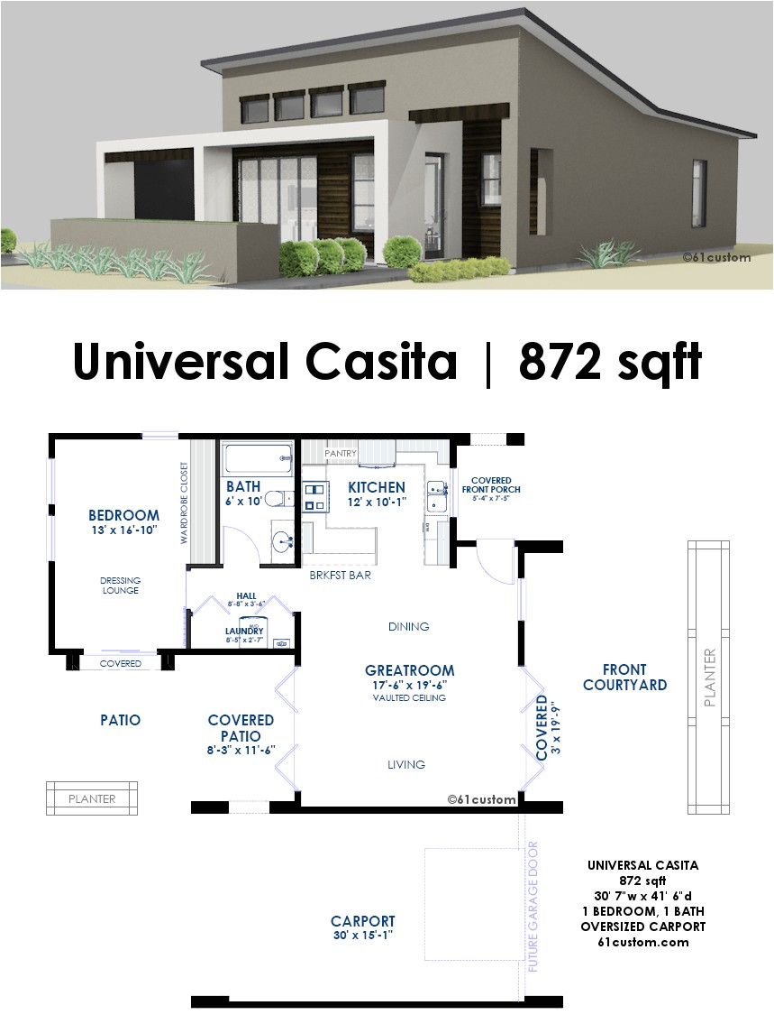 Home Plans with Casitas Universal Casita House Plan 61custom Contemporary