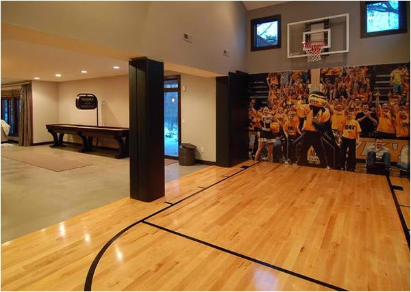 Home Plans with Indoor Basketball Court 15 Ideas for Indoor Home Basketball Courts Home Design Lover