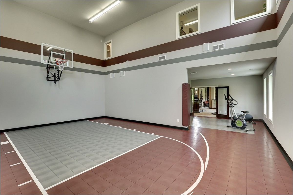home plans with indoor sports courts
