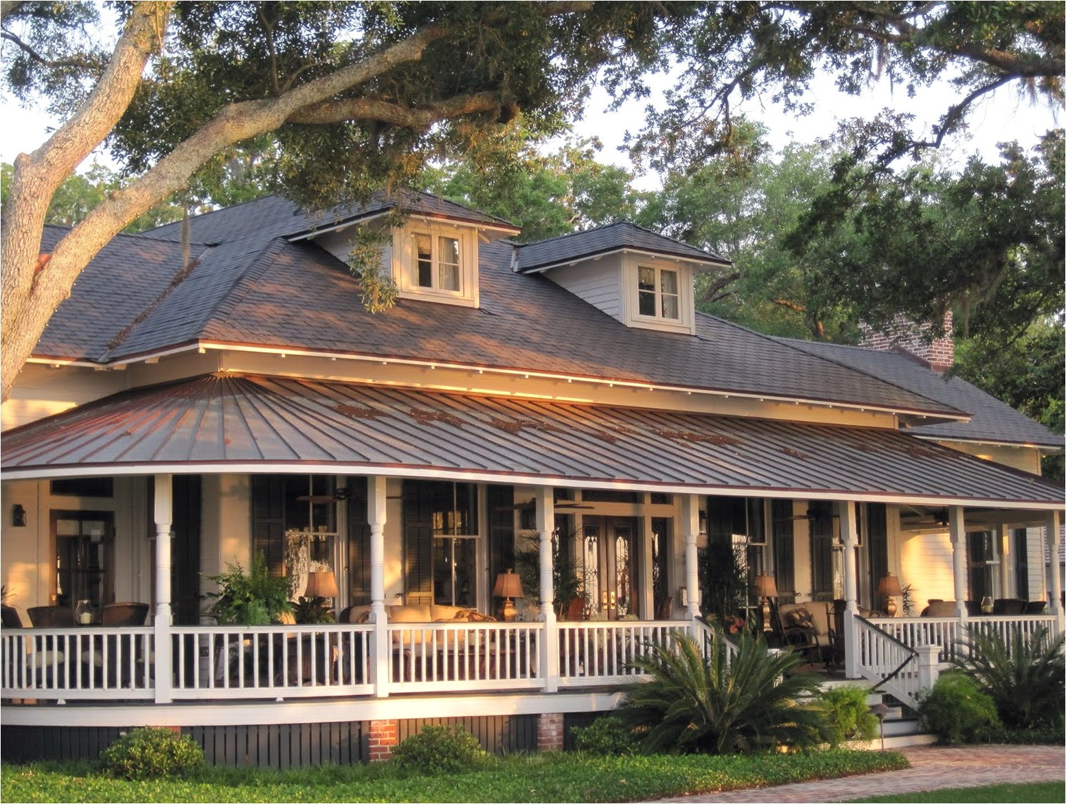 10267 house plans with porches on front and back