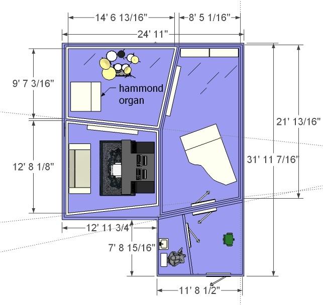 home recording studio floorplans