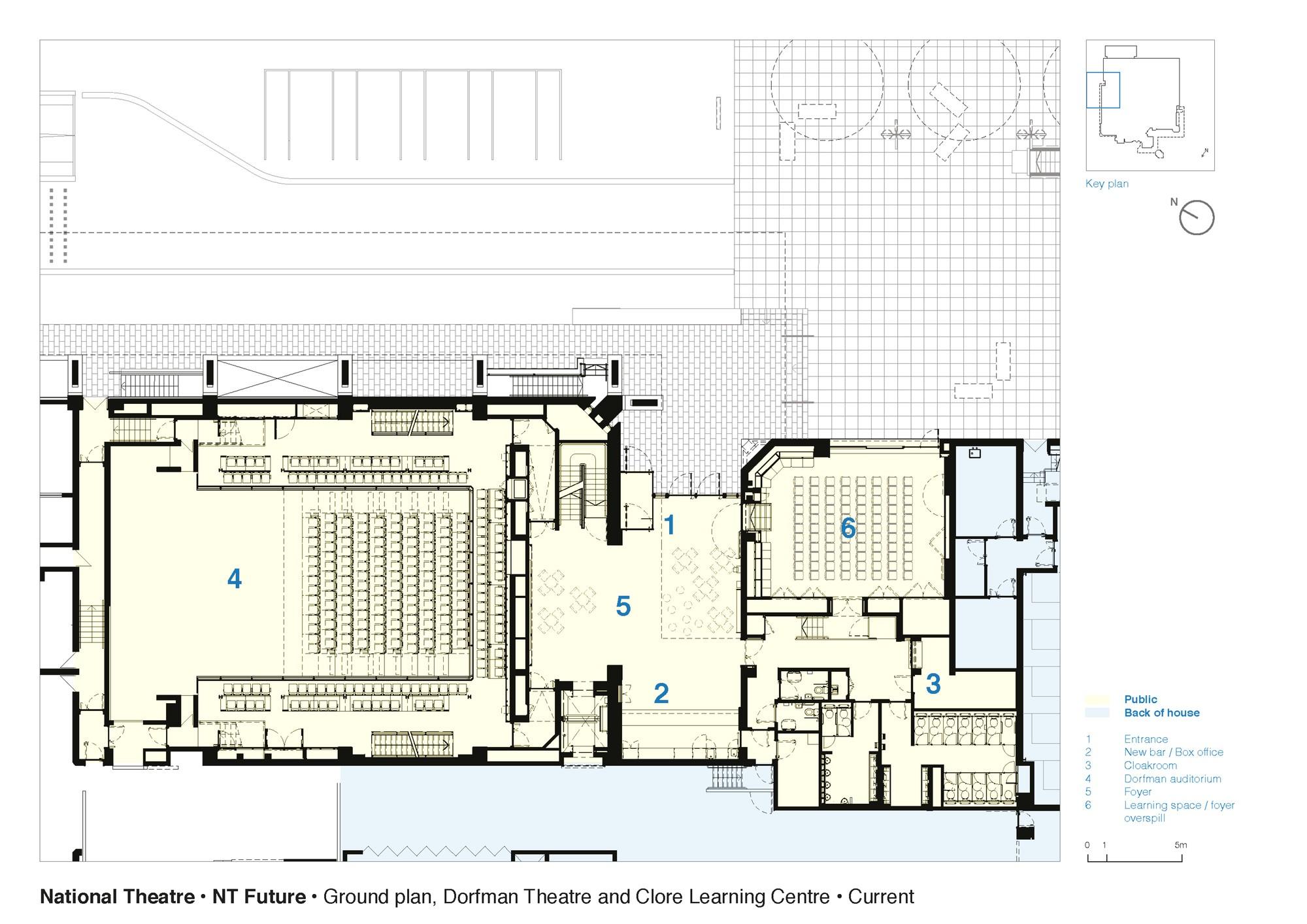 555bce54e58ece6a9f0001b3 national theatre haworth tompkins ground floor plan dorfman theatre