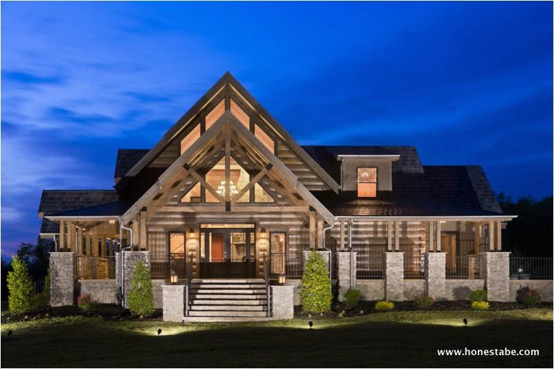 honest abe log homes inc cambridge home plan