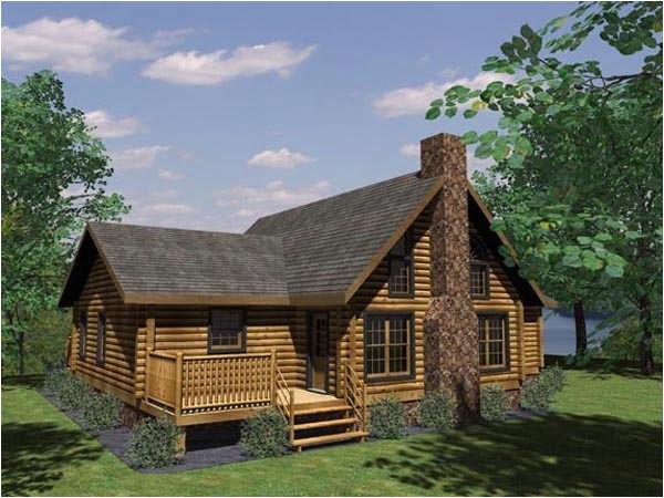 navajo log home plan